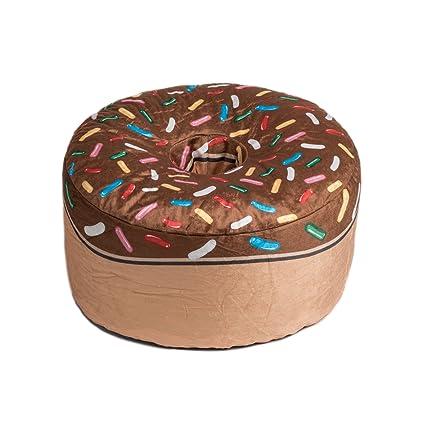 Peachy Amazon Com Wow Works Adult Brown Donut Beanbag 994076 Inzonedesignstudio Interior Chair Design Inzonedesignstudiocom