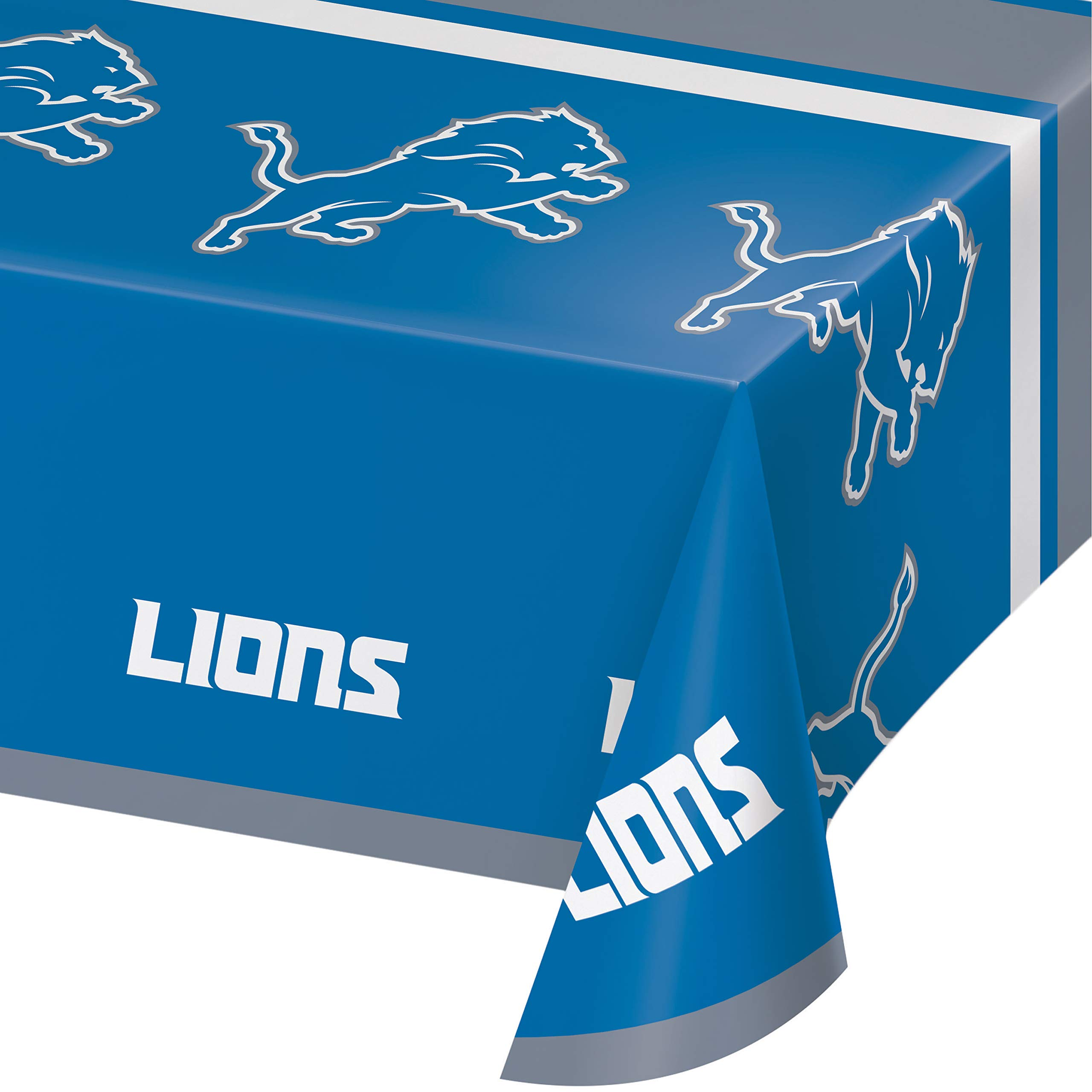 Detroit Lions Plastic Tablecloths, 3 ct by Creative Converting