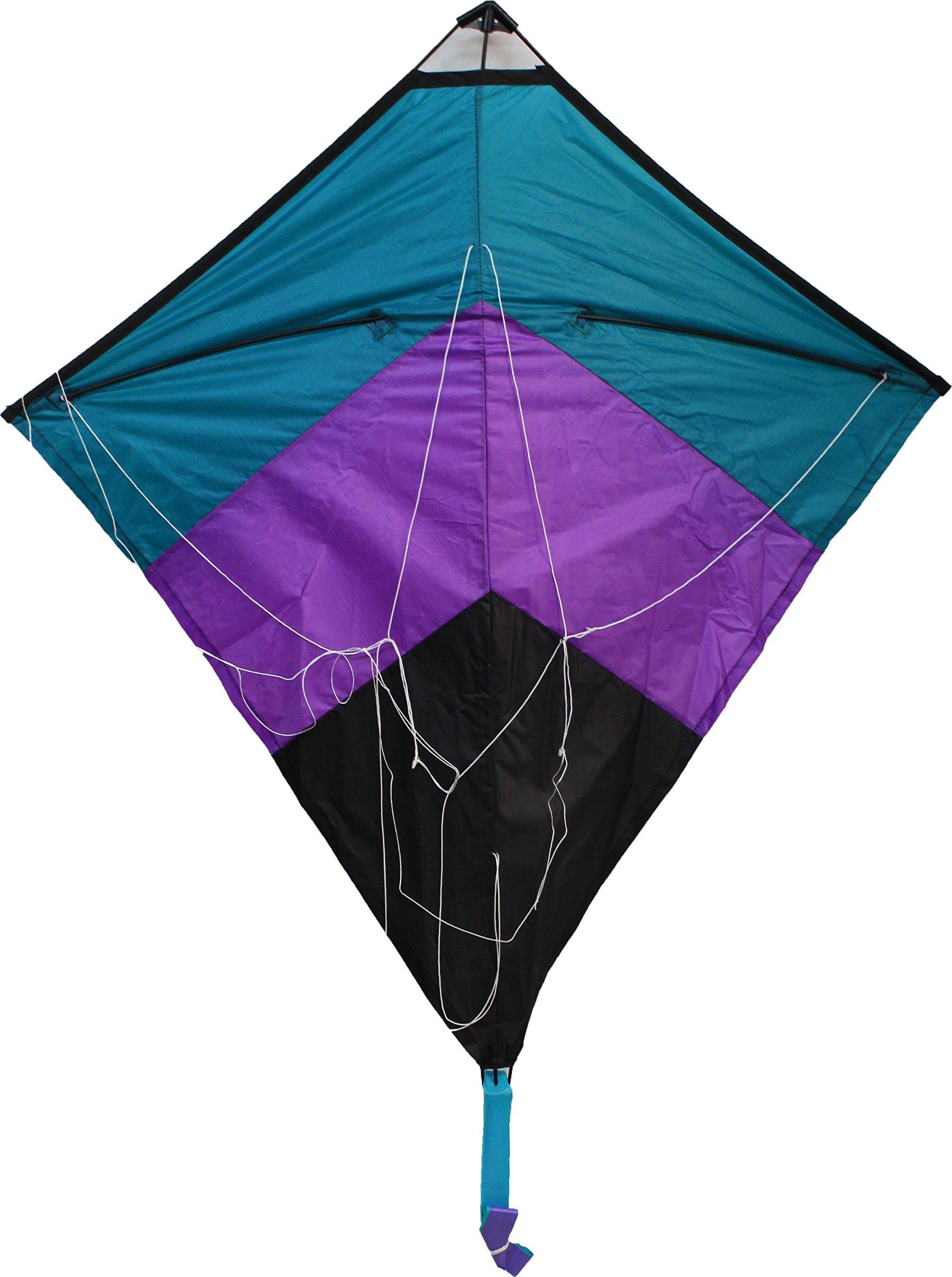 WindNSun Dual Control Chevron Diamond Stunt Kite, 36'' Tall