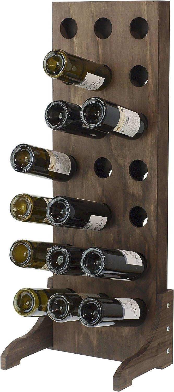 94/x 35/x 7/cm Legno Expovinalia portabottiglie per 21/Bottiglie Marrone