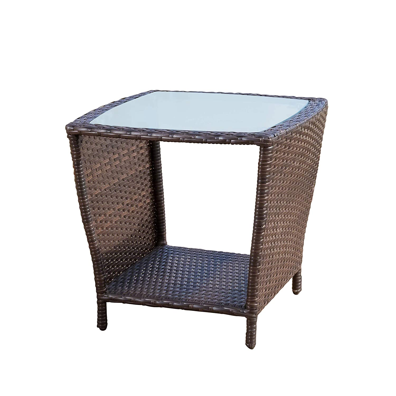Christopher Knight Home Easton Outdoor Brown Wicker Accent Table