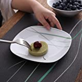 VEWEET 4-Piece Porcelain Dessert Plate Set, Durable