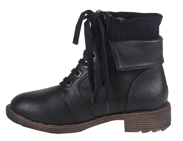 trendBOUTIQUE - Botas Chukka Mujer , color Negro, talla 41: Amazon.es: Zapatos y complementos
