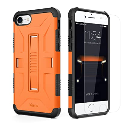 Amazon.com: IPhone 7 Case, Slim Military Shockproof Protective ...