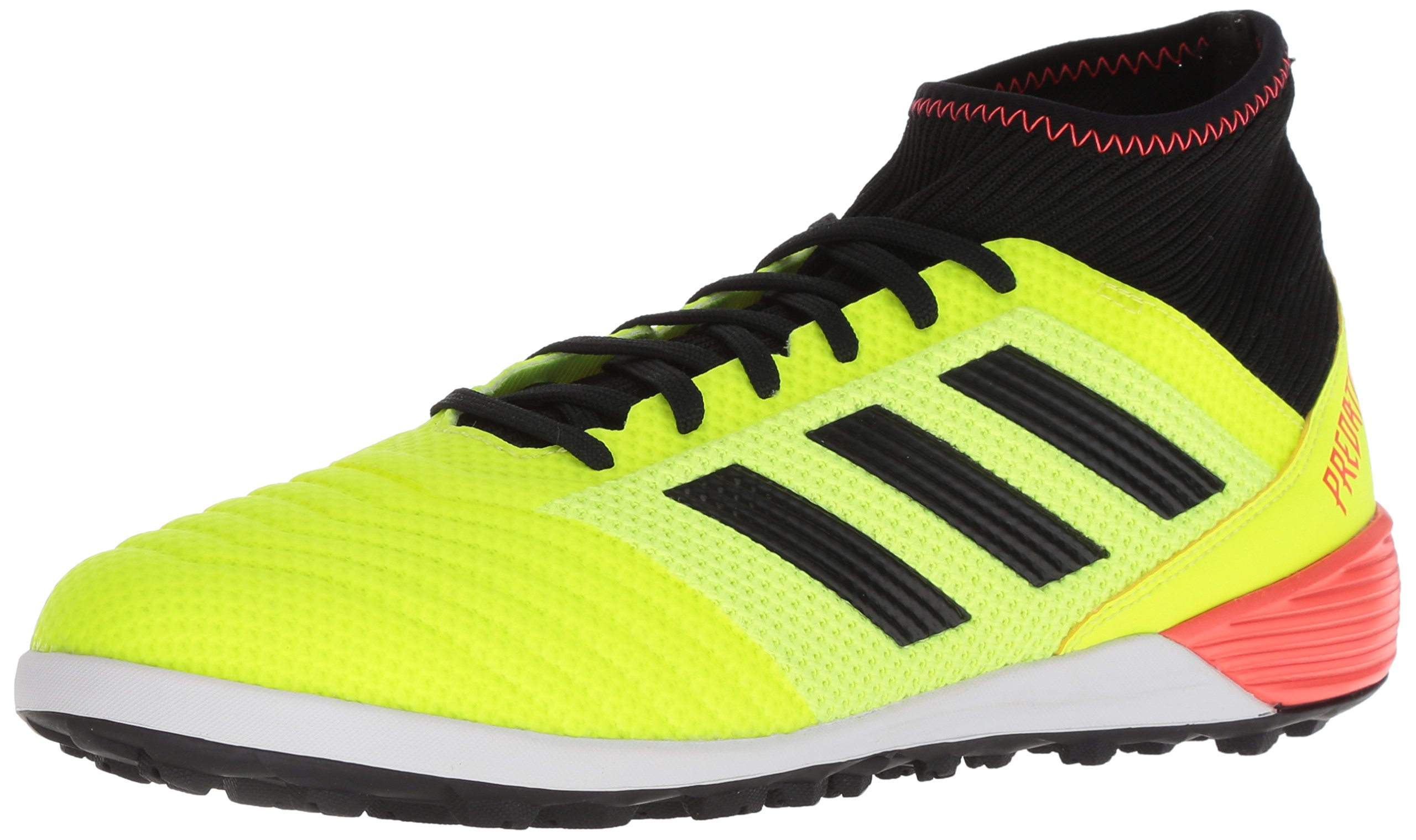 adidas Men's Predator Tango 18.3 TF Soccer Shoe, Solar Yellow/Core Black/Solar Red, 9.5 M US
