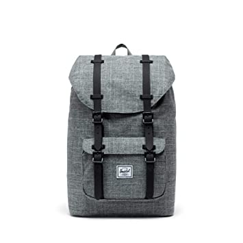 3264e46a5 Amazon.com | Herschel Little America Mid-Volume Backpack, Raven  Crosshatch/Black Rubber | Kids' Backpacks