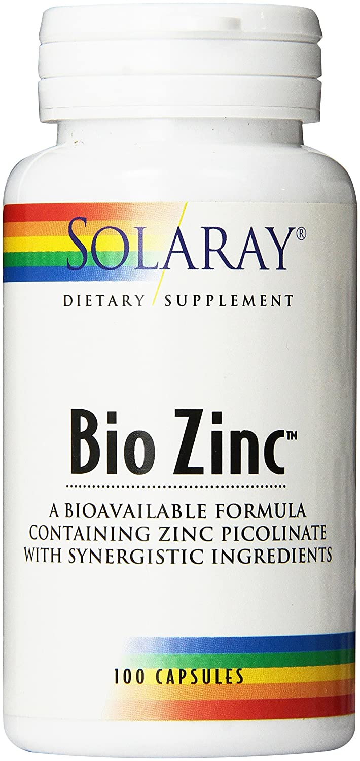 Amazon.com: Solaray Bio Zinc Supplement, 15mg, 100 Count: Health ...