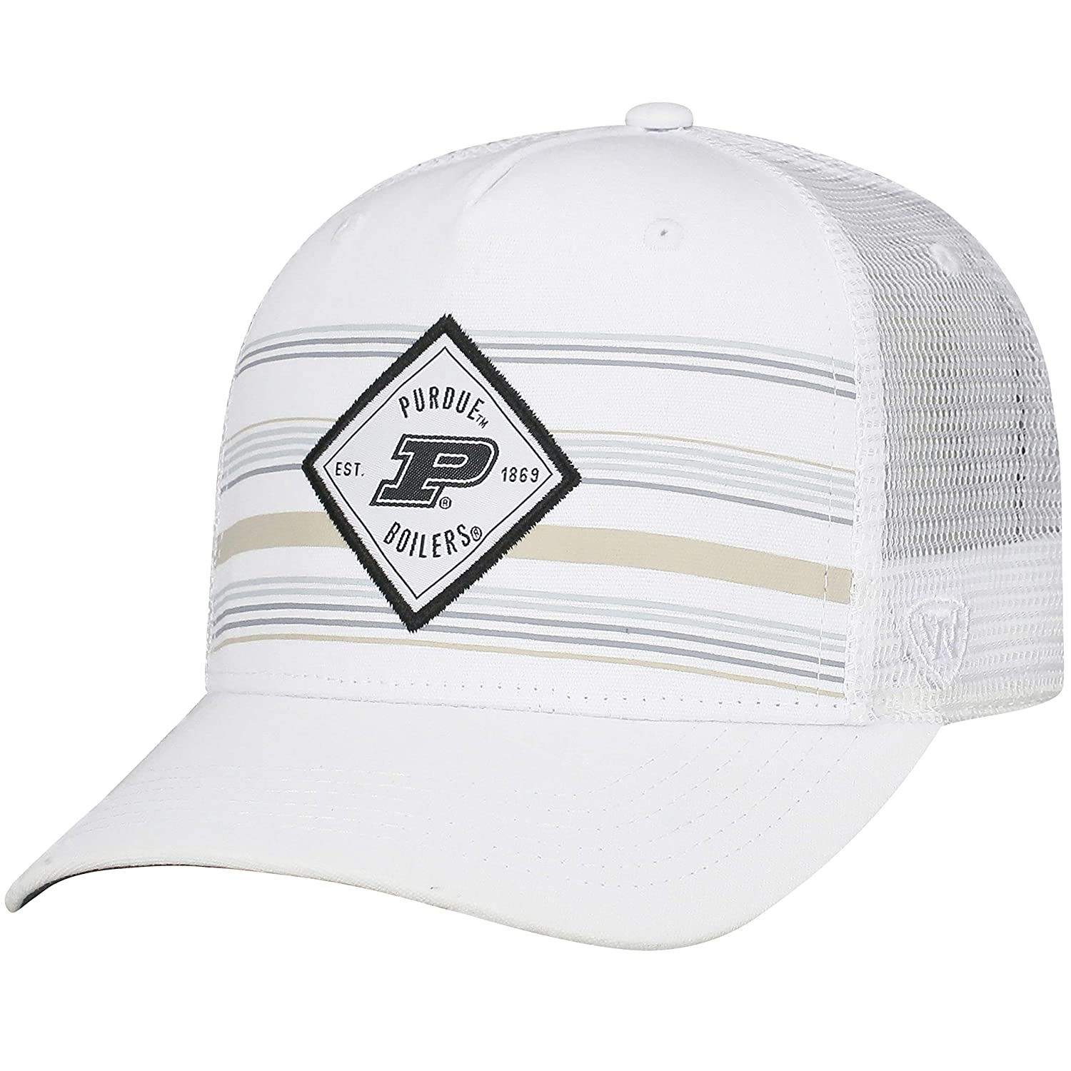 10601553165 wholesale amazon top of the world purdue boilermakers tow white 36th ave  mesh adj. snapback
