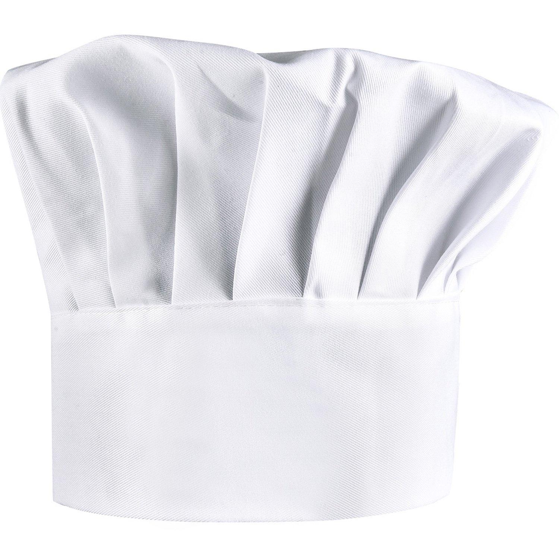 2 Pezzi Cappelli da Cuoco Cotone Regolabile Elastico Cappelli da Chef, Adulto Cappelli da Chef, Bianco Shappy Others