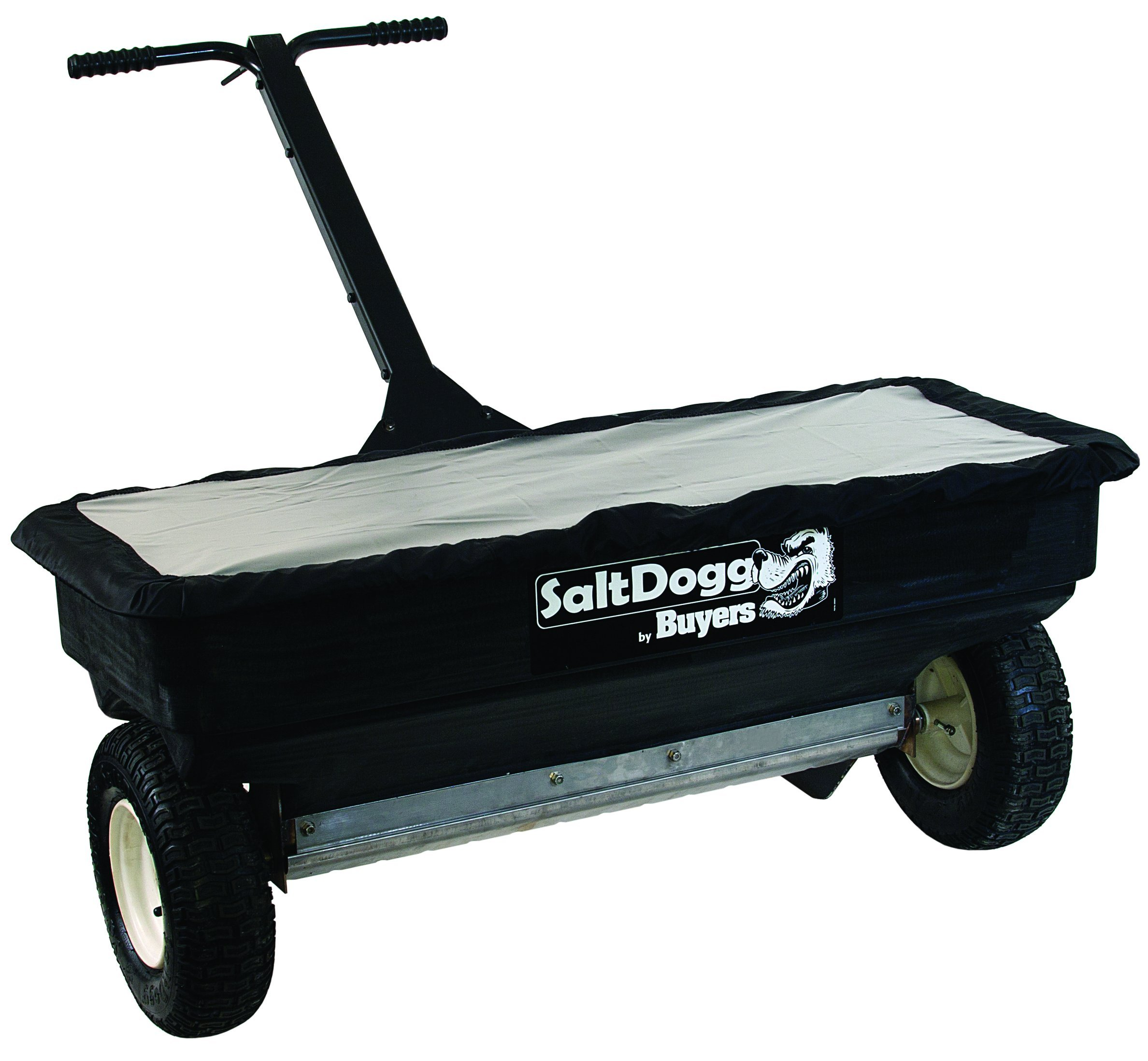 SaltDogg WB400 Professional 200 lb Capacity Walk Behind Drop Salt Spreader