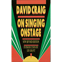 On Singing Onstage (Applause Acting Series) book cover