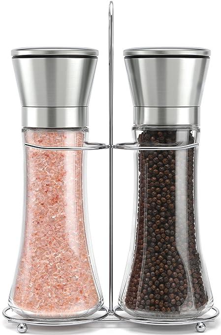 Amazoncom Original Stainless Steel Salt And Pepper Grinder Set