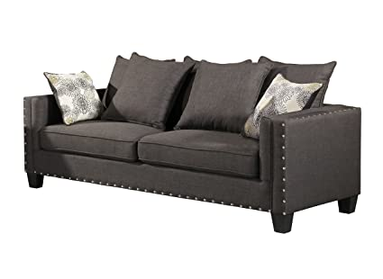 Amazon.com: Home Source U-88000-S Sofa, Grey: Kitchen & Dining