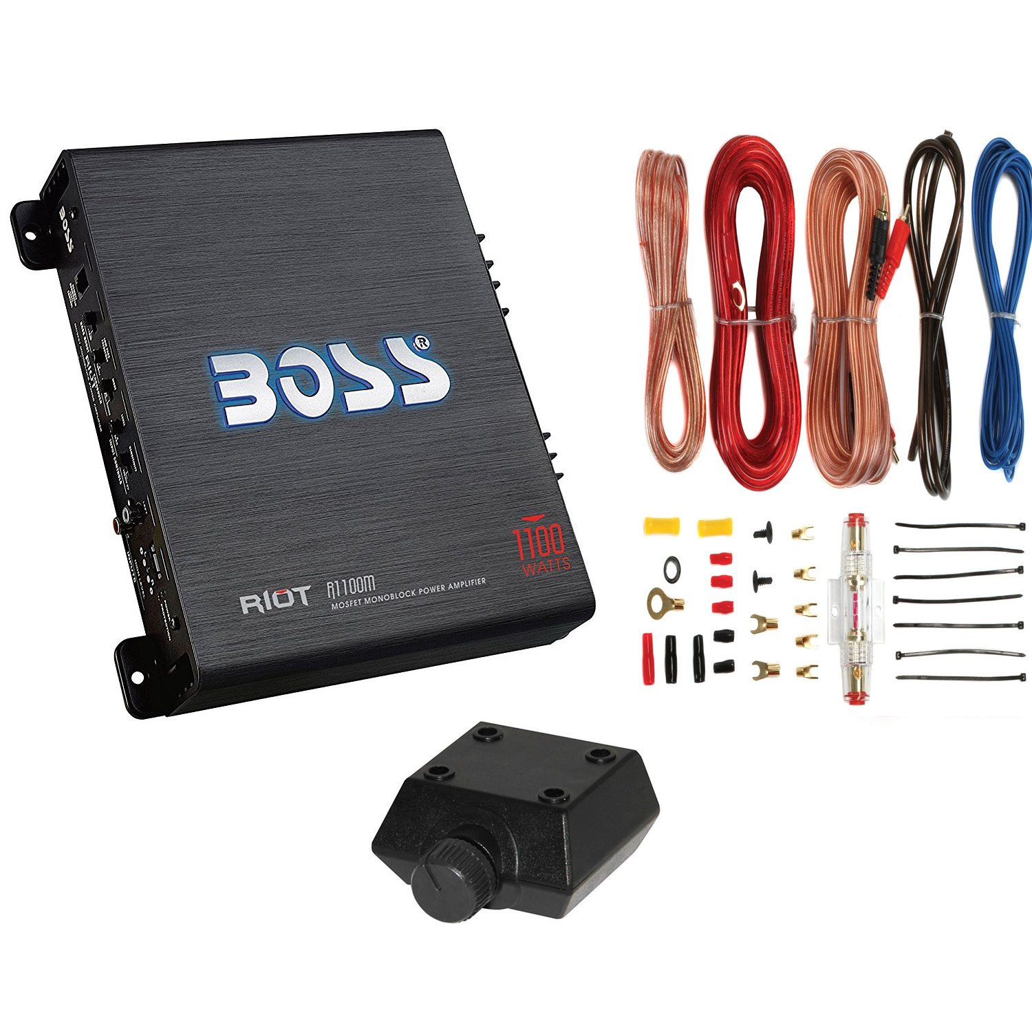 Boss R1100m 1100w Mono Car Audio Amplifier Kit2 Kapasitor Bank The Punch 8 Farad Electronics