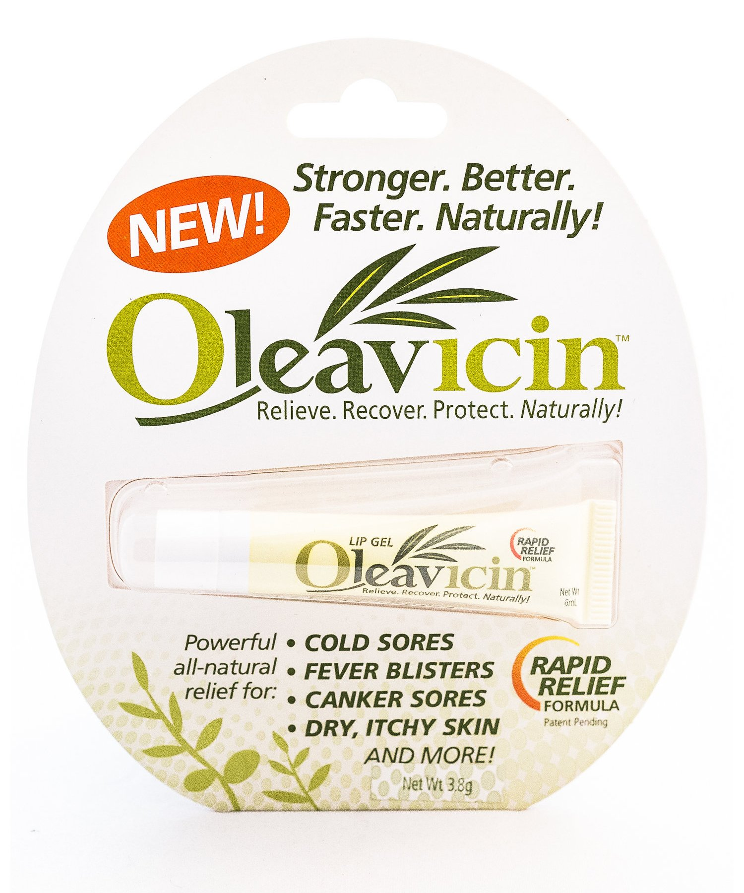 All Natural & Organic Fever Blister & Cold Sore Treatment & Relief Ointment Gel 1.3oz(3.8)