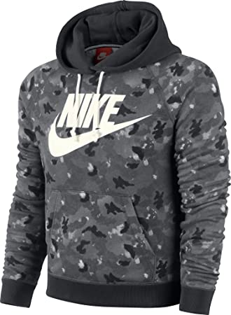 separation shoes detailed images 100% high quality Nike Damen Pullover - Sportswear Rally Hoddy Camo, Grau, L ...
