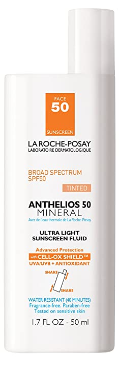 la roche posay anthelios 50 mineral tinted ultra light tinted sunscreen fluid for face
