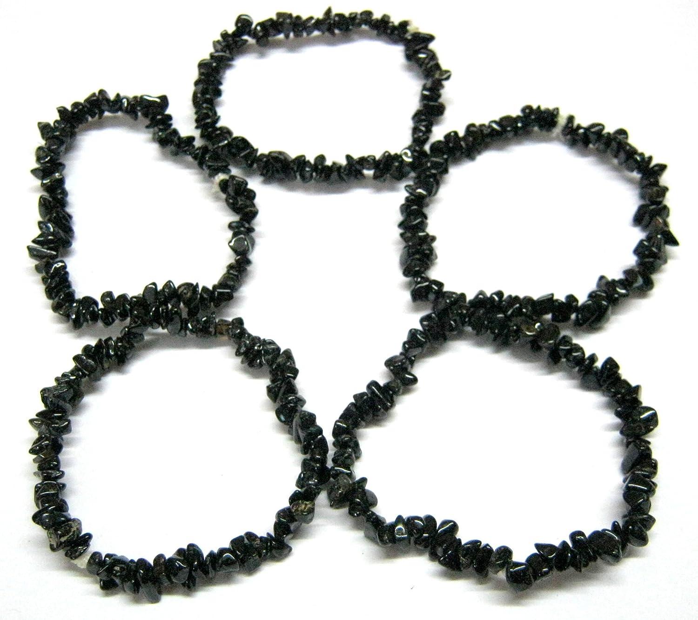 Beautiful cinco negro turmalina Gemstone cuentas para pulseras hombres mujeres regalo cristal curación de energía potente psicodélicas Wicca de la moda joyas Deflector