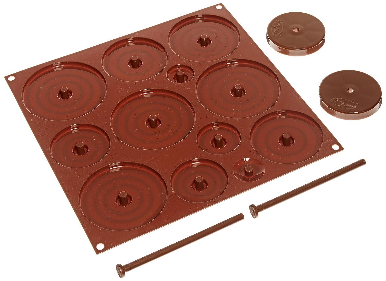 Silikomart 22.152.77.0065 C3D02 Moule pour Chocolat Forme Sapin Thème Pâques Silicone Marron