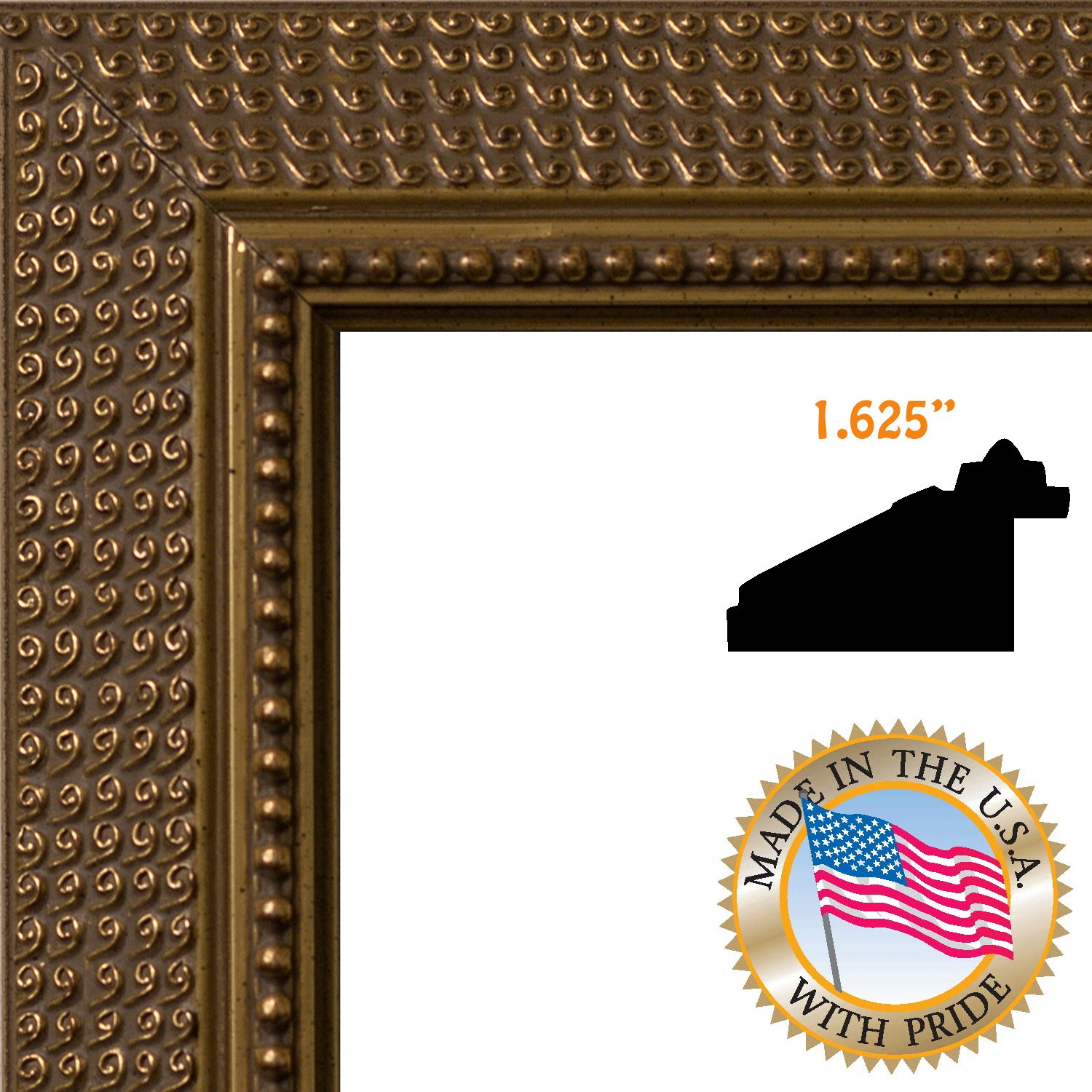Amazon.com - ArtToFrames 12x17 / 12 x 17 Picture Frame Dark Gold ...