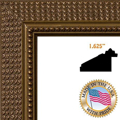 Amazon.com - ArtToFrames 13x16 / 13 x 16 Picture Frame Dark Gold ...
