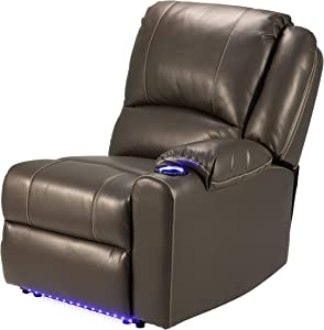 "THOMAS PAYNE 759232 Majestic Chocolate 30"" x 38"" x 40"" RV Modular Theater Seating Left Hand Recliner"