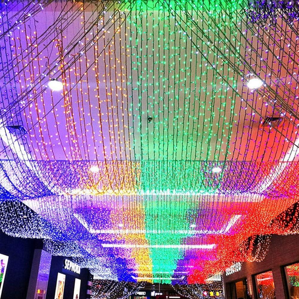ASKLKD Chaîne Guirlande Lumineuse LED For L\'extérieur Intérieur Rideau Dorm, Jardin Gazebo Mariage Et Plus Viaus (Color : Red-400m.4000LEDs) White-300m.3000leds