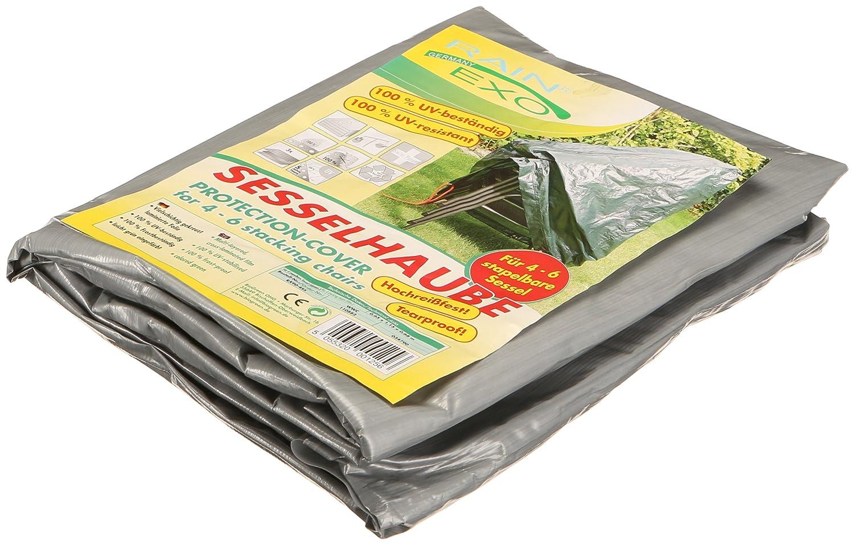 Rainexo telo protettivo antistrappo altamente resistente per 4 sedie impilabili, 0,65 x 1,15 x 0,68 m, argento/grigio Rain Exo RX90-4SS SG