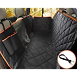 Lifepul(TM) Dog Seat Cover Car Seat Cover for Pets - Waterproof & Scratch Proof & Nonslip Backing & Hammock, Dog Backseat Cover Protector with Mesh Window, Fits for Cars Trucks and SUVs