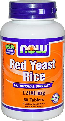 Now Foods, Red Rice Yeast Extract 1200Mg, 60 Count