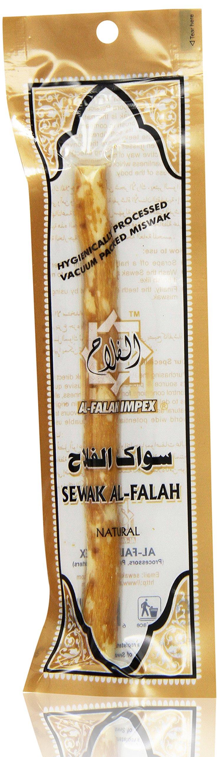 Miswak Stick - Sewak Al-Falah - Hygienically Processed and Vacummed Packed - Box of 60 Individual Sticks by Al Falah