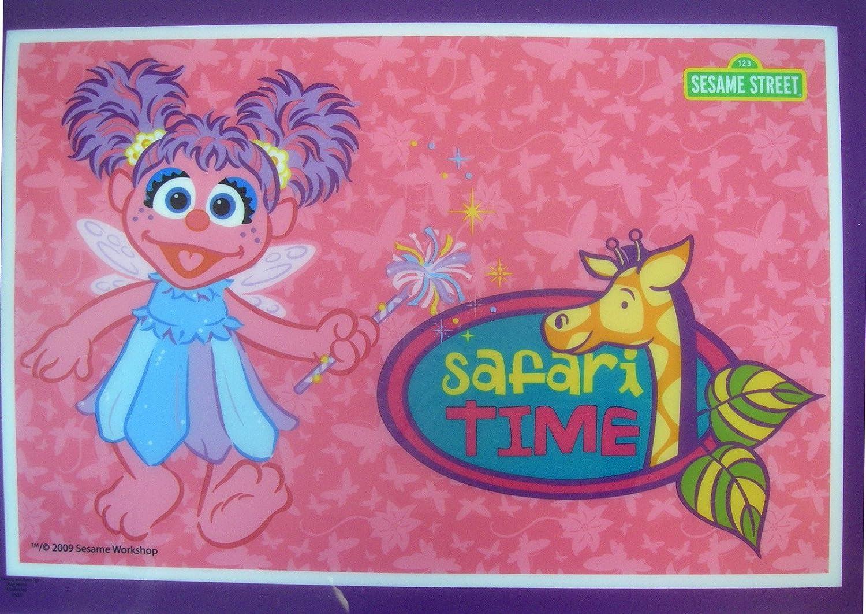 Sesame Street Safari Time Vinyl Zoe Placemat -Sesame Street Dinnerware Zak