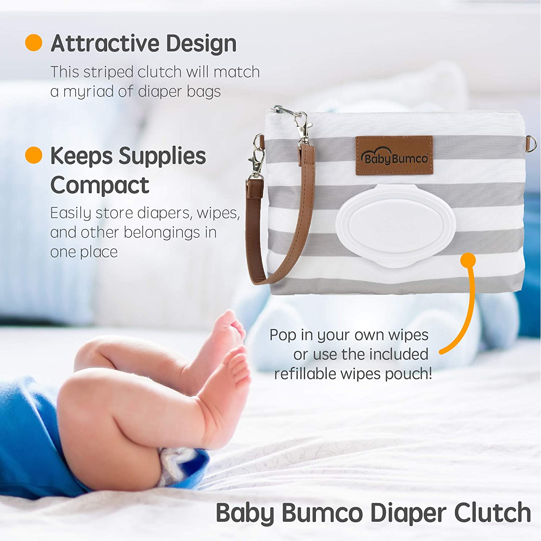 Gray Mini 2-Pack BabyBum Diaper Cream Brush and Pink Full Size with Case