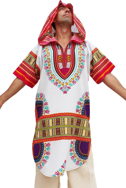 RaanPahMuang African Dashiki Long Urban Warlock Jacket Hood Hoody Fashion variant25860AMZ