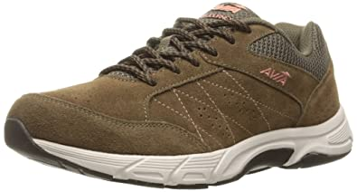 AVIA Women's Avi-Journey Walking Shoe, Chocolate Chip/Soft Coral/Snowline  ECRU