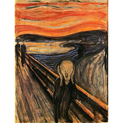 Edvard Munch The Scream Painting A 10 1/2 x 13 1/2 Inch 130 Pc Puzzle: Toys & Games