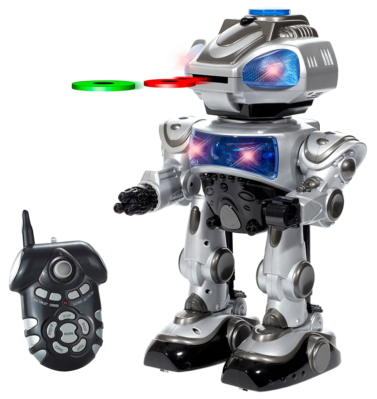 World Tech Toys Robokid Programmable Disc Shooting RC Robot 35896