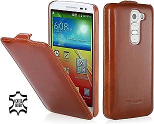 StilGut UltraSlim Case, custodia in vera pelle per LG G2 Mini, cognac