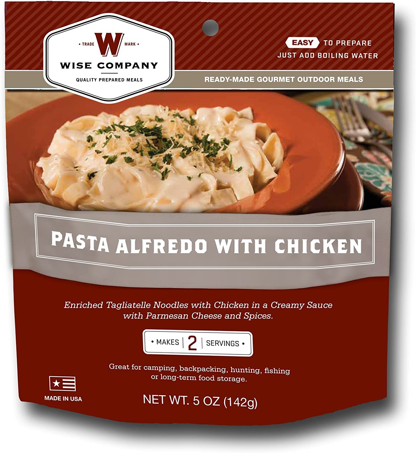 Wise Outdoor Pasta Alfredo with Chicken (5.3-Ounce)