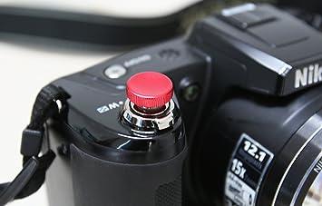 Lolumina 10MM Diameter Red Mini MK.II Soft-Release Button Complete Kit for Fujifilm X-T1 Sony A7