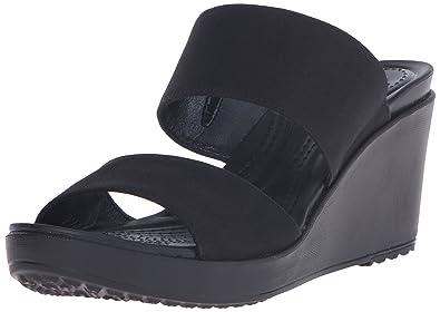 4556caea43a0 crocs Women s Leigh II 2-Strap Wedge