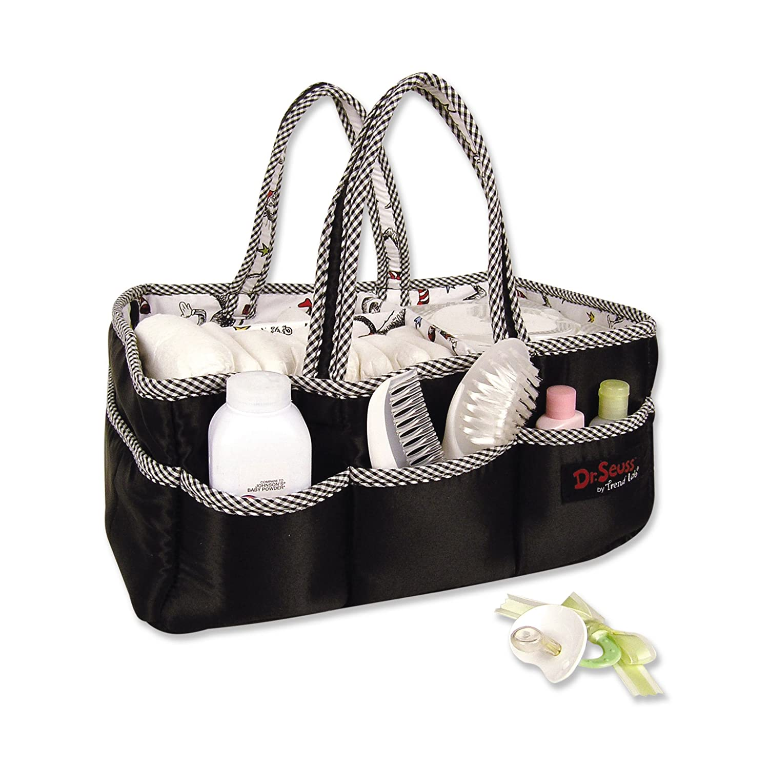 Amazon.com : Trend Lab Storage Caddy, Cat In The Hat Black : Diaper Tote  Bags : Baby