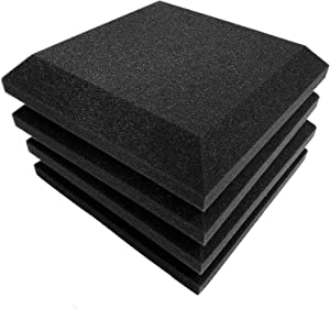 "12 Pack Set Acoustic Foam Panels, 2"" X 12"" X 12"" Acoustic Foam Sound Absorption, Soundproof Sound Insulation Absorbing, Acoustic Treatment Used in Home & Offices"