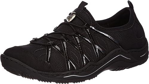 Rieker Damen Sneaker Sneaker Low Synthetik schwarz | real