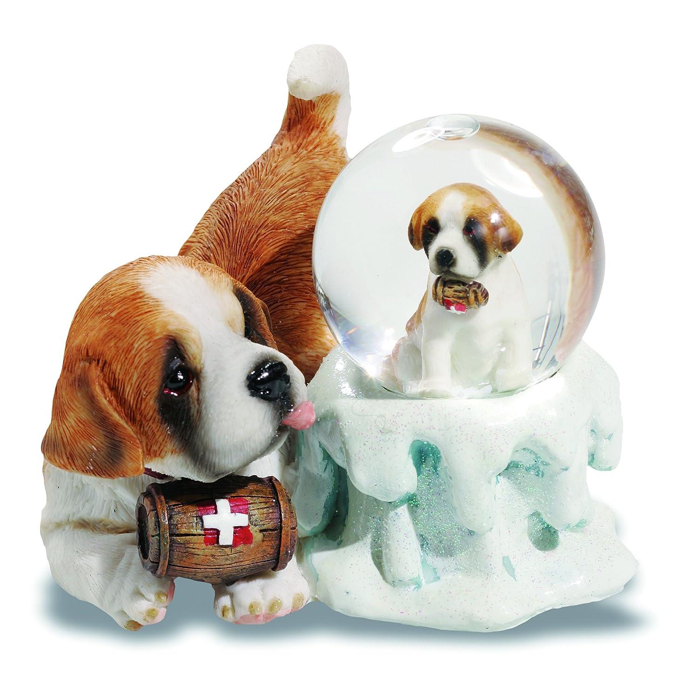 /Personaggio sfera neve Saint Bernard con bambino mo0269 Katerina Prestige/