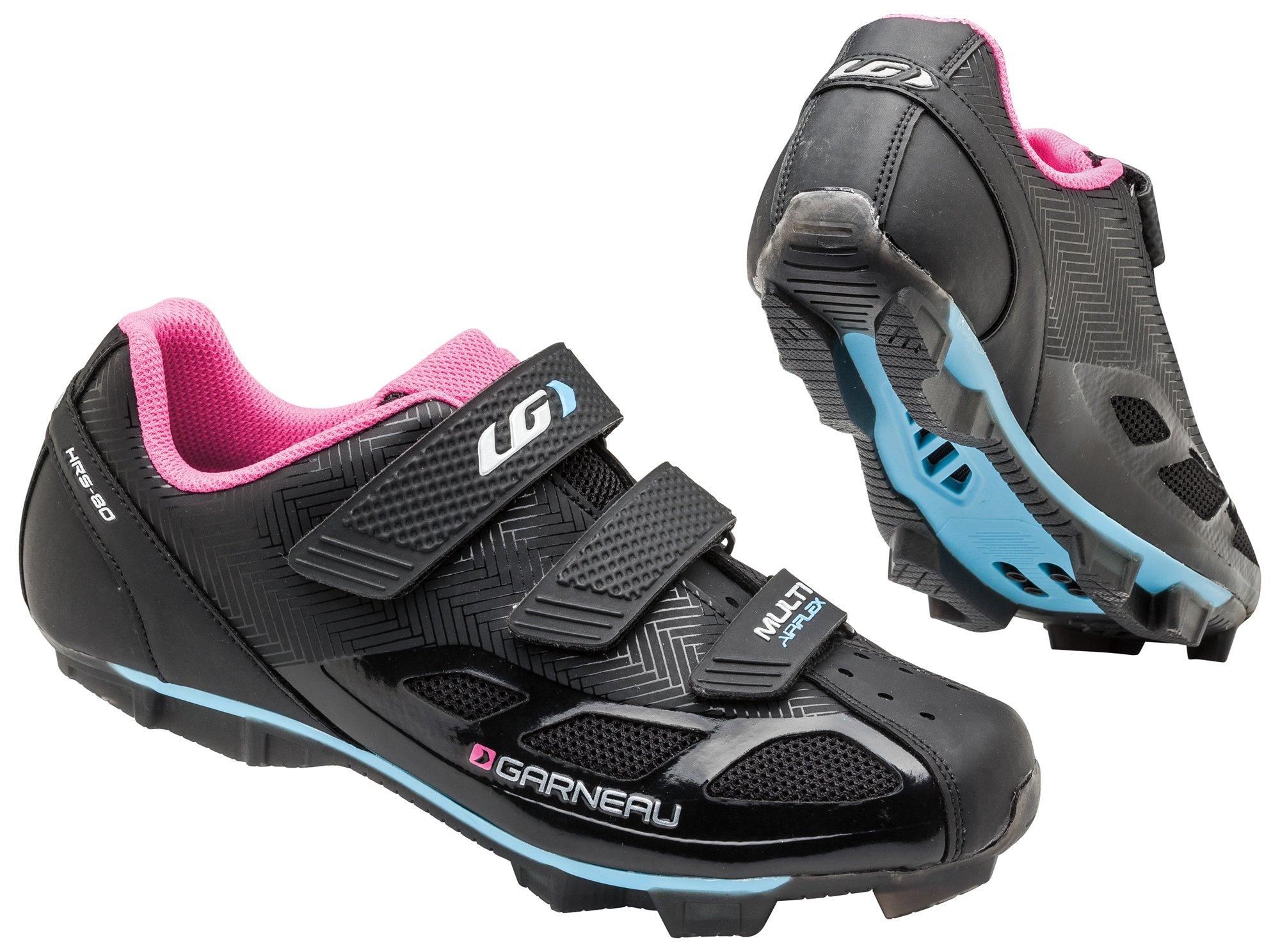 Louis Garneau Women's Multi Air Flex Bike Shoes, Black/Pink, 40