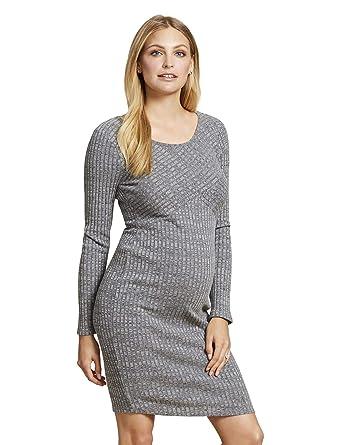 1dcc896d3f963 Jessica Simpson Rib Knit Maternity Dress Grey at Amazon Women's Clothing  store: