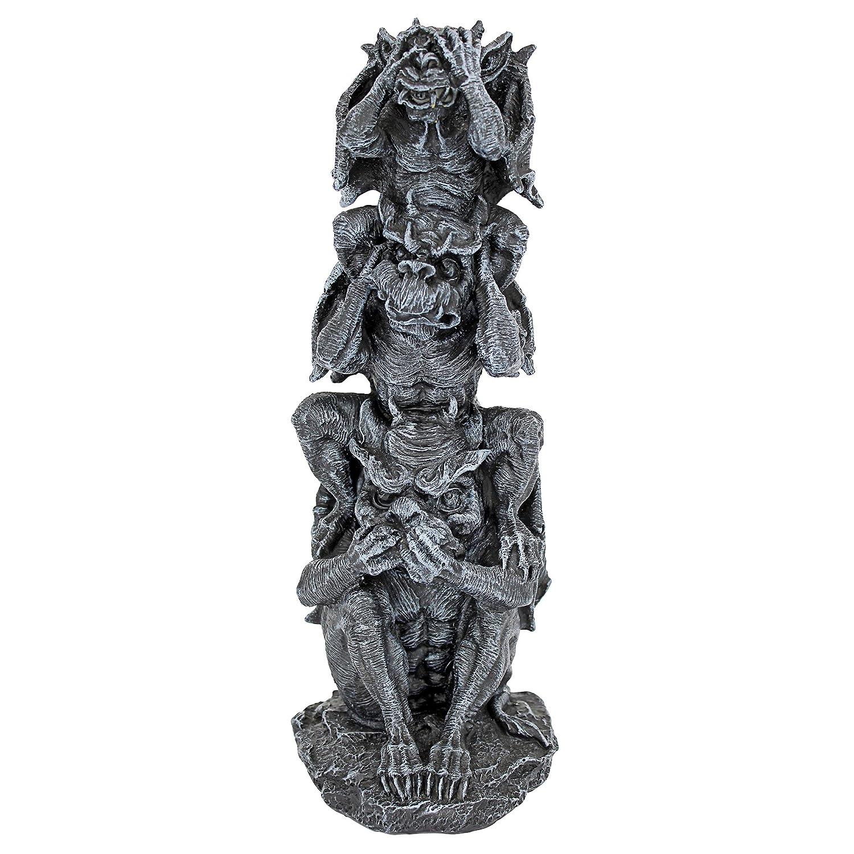 Design Toscano Hear See Speak No Evil Gargoyle Totem