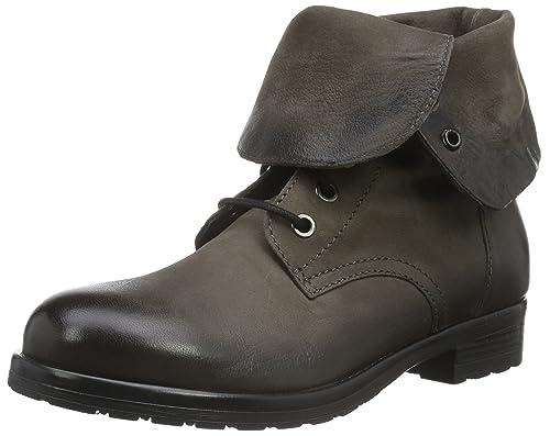Clarks Minoa River - Botas de Moto, Mujer, Negro (Black Leather), 38 EU