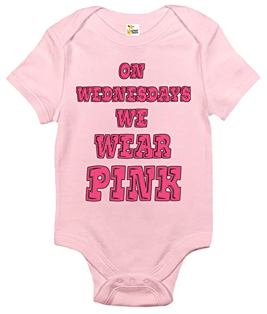 d190b9db4 Amazon.com  On Wednesdays We Wear Pink Baby Bodysuit Cute Baby ...